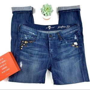 7FAMK Josefina Skinny Boyfriend Jeans EUC